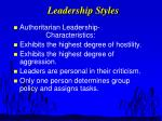 leadership styles