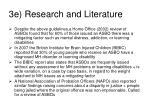 3e research and literature