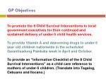 gp objectives