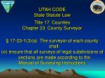 title 17 counties chapter 23 county surveyor