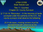 title 17 counties chapter 23 county surveyor11
