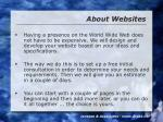 about websites