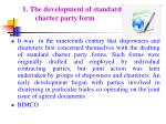 1 the development of standard charter party form