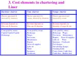 3 cost elements in chartering and liner