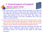 3 general aspects of standard charter party form