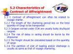 5 2 characteristics of contract of affreightment