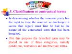 5 classification of contractual terms