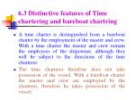 6 3 distinctive features of time chartering and bareboat chartring
