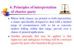 6 principles of interpretation of charter party75