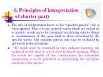 6 principles of interpretation of charter party76