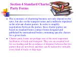 section 4 standard charter party forms