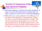 section 6 comparison of liner and chartered shipping