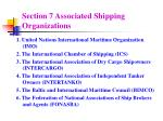 section 7 associated shipping organizations