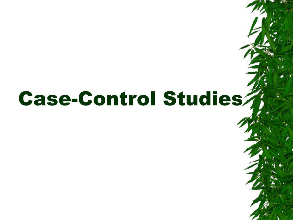 case control studies l.