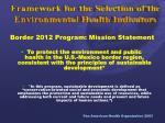 border 2012 program mission statement