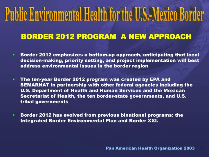 public environmental health for the us mexico border