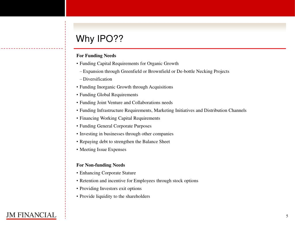 Why IPO??