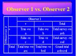 observer 1 vs observer 2