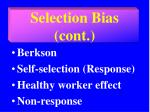 selection bias cont