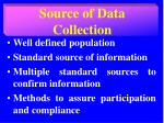 source of data collection