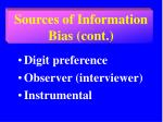 sources of information bias cont