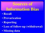 sources of information bias