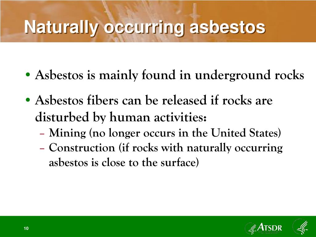 Naturally occurring asbestos