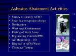 asbestos abatement activities63