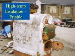 high temp insulation friable