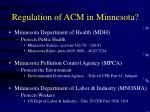 regulation of acm in minnesota