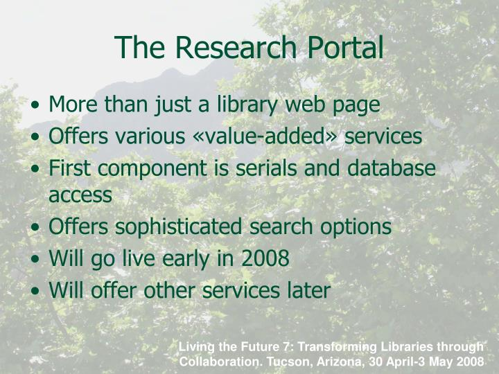 The Research Portal