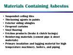 materials containing asbestos