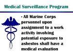 medical surveillance program