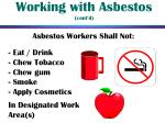 working with asbestos cont d