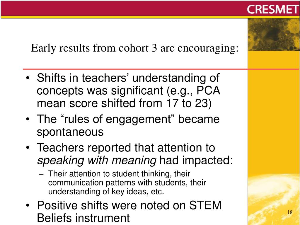 Early results from cohort 3 are encouraging: