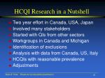 hcqi research in a nutshell