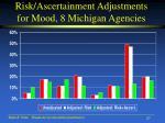 risk ascertainment adjustments for mood 8 michigan agencies