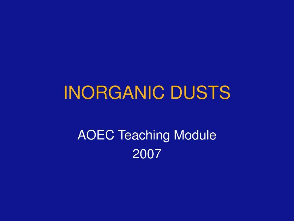 inorganic dusts l.
