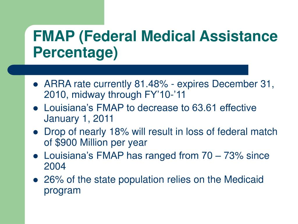 FMAP (Federal Medical Assistance Percentage)