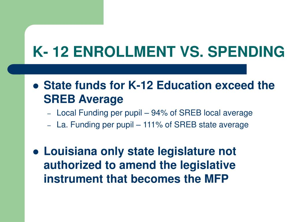 K- 12 ENROLLMENT VS. SPENDING