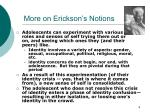 more on erickson s notions