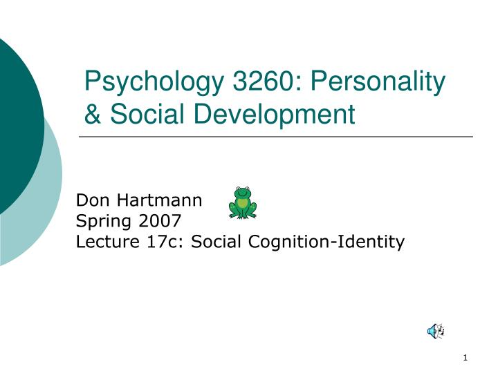 psychology 3260 personality social development n.
