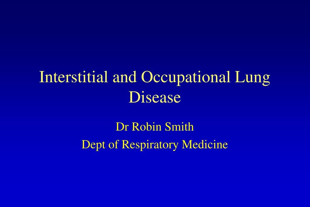 dr robin smith dept of respiratory medicine l.