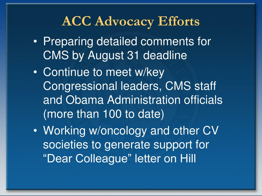 ACC Advocacy Efforts