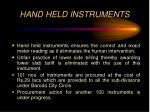 hand held instruments