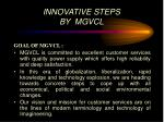 innovative steps by mgvcl2