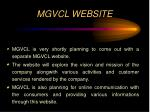 mgvcl website