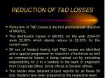 reduction of t d losses