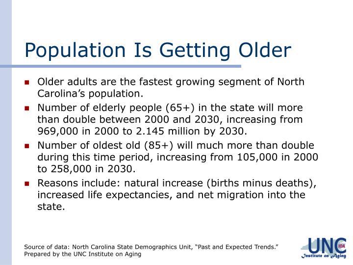 Population is getting older