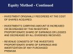 equity method continued